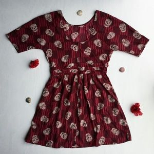 Xhilaration - Red, Skull Designed, Mini Dress